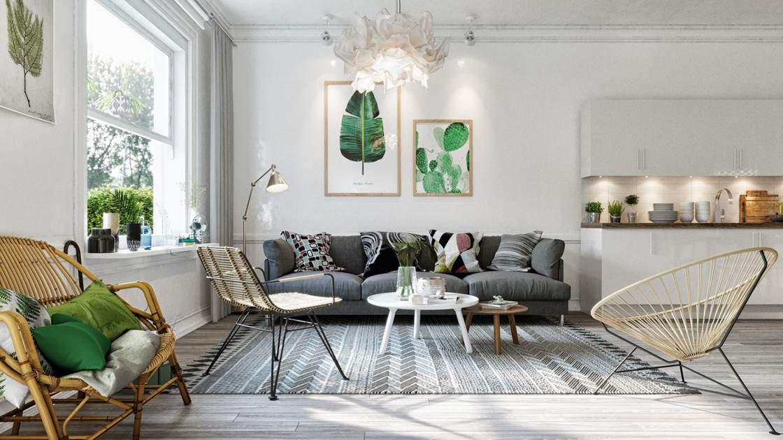 Trang trí nội thất phòng khách đẹp và tiện nghi