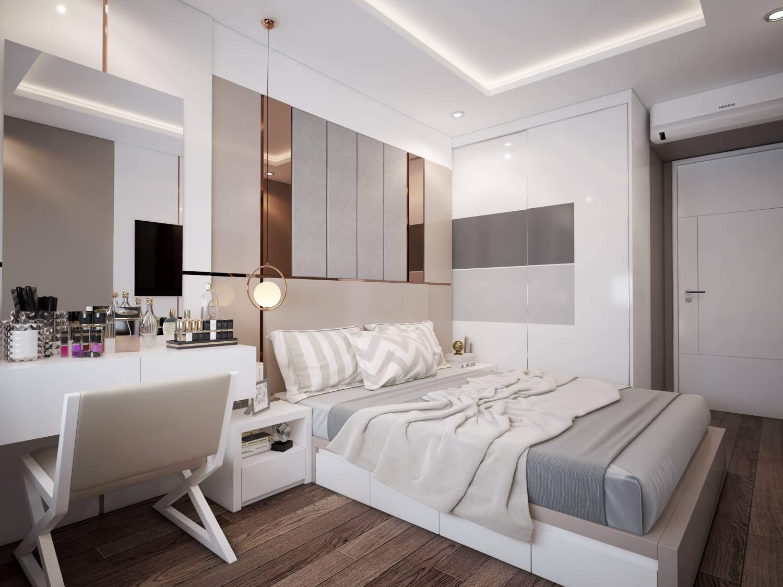 Mẫu thiết kế nội thất phòng ngủ master dành cho gia chủ mệnh Kim