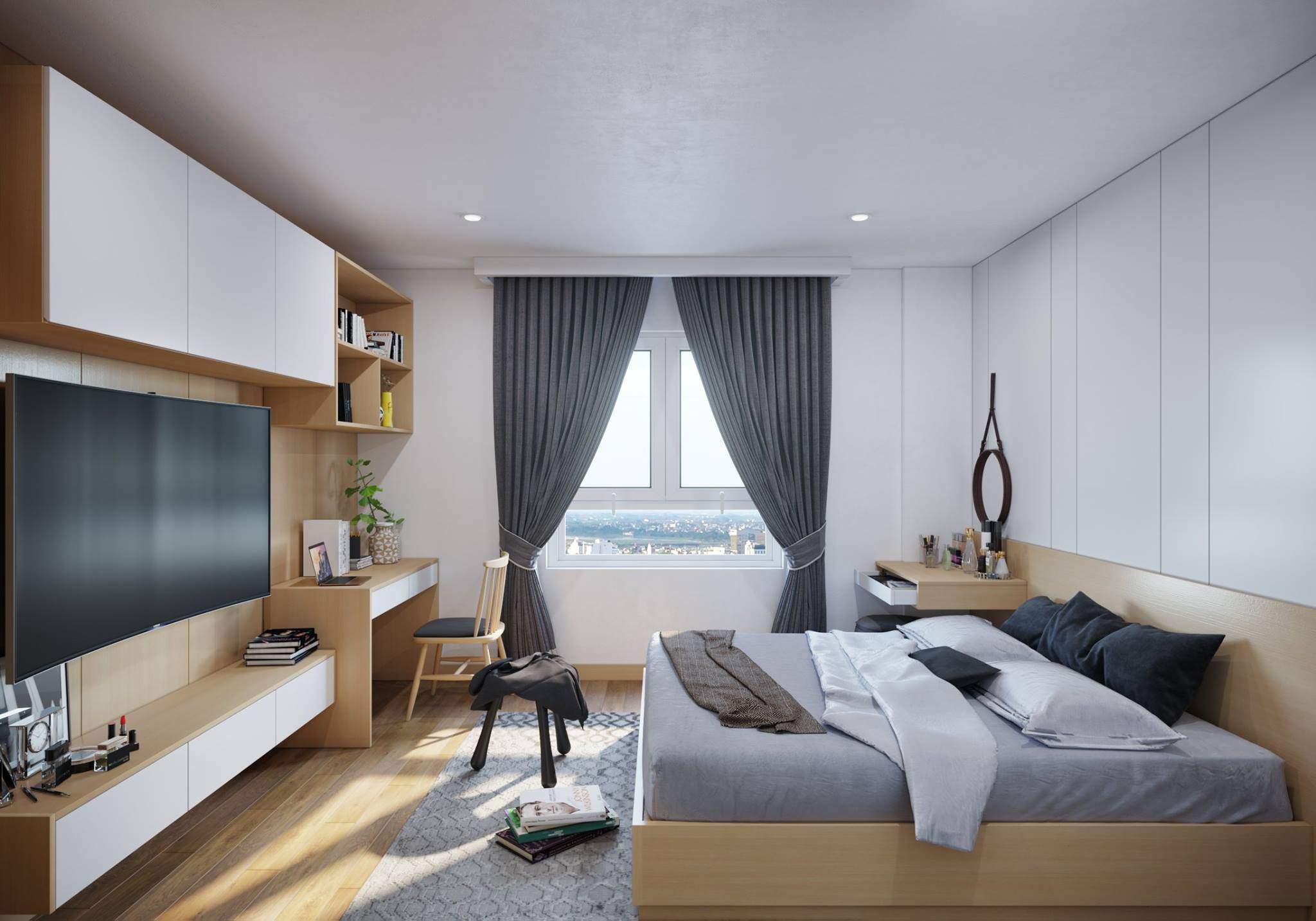 Thiết kế phòng ngủ nhỏ đẹp với gam màu hài hòa