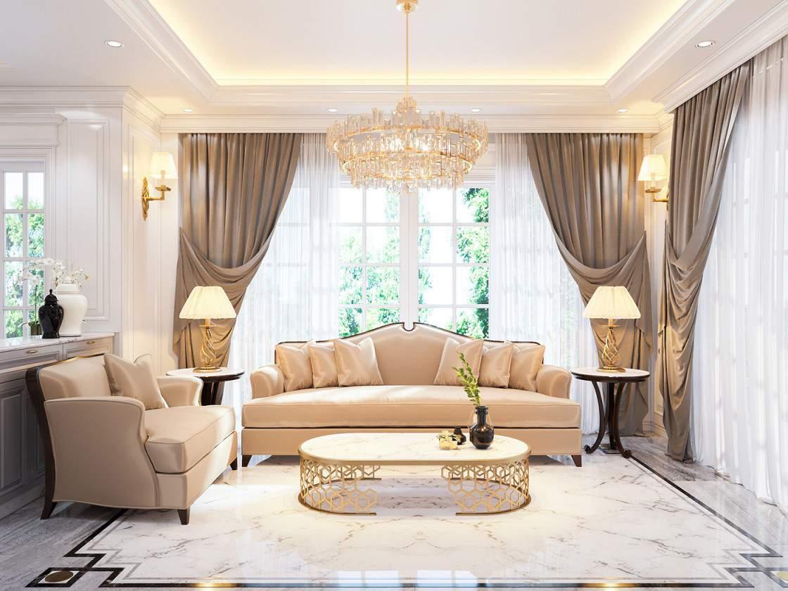 Mẫu thiết kế phòng khách đẹp gần gũi với thiên nhiên