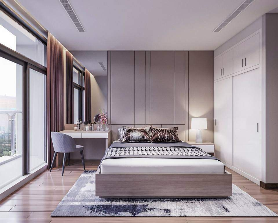 Mẫu thiết kế phòng ngủ diện tích nhỏ với màu sắc hài hòa