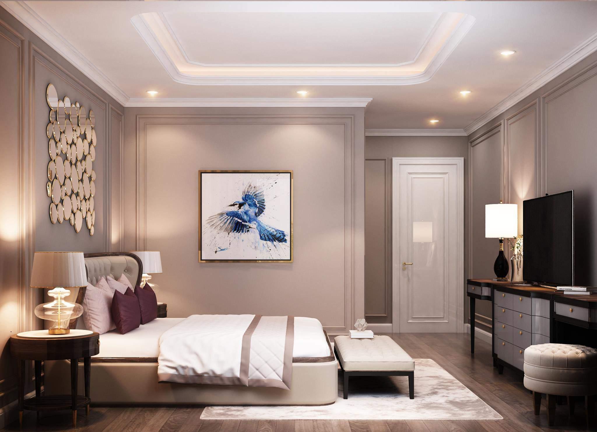 Mẫu thiết kế nội thất phòng ngủ đẹp cho nhà chung cư