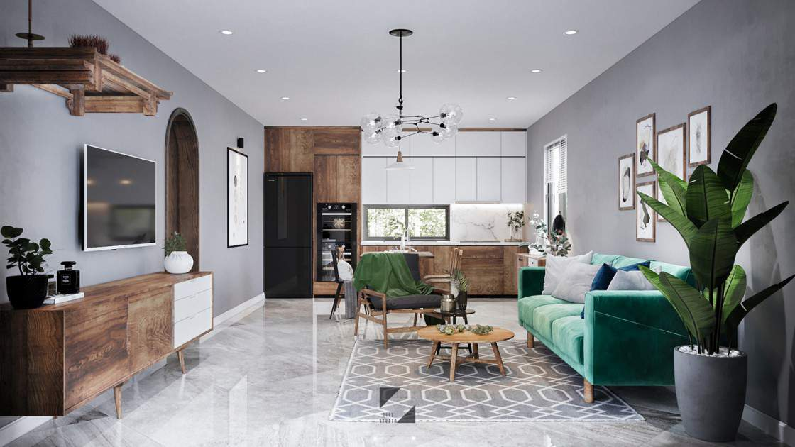Mẫu trang trí phòng khách đẹp cho nhà chung cư