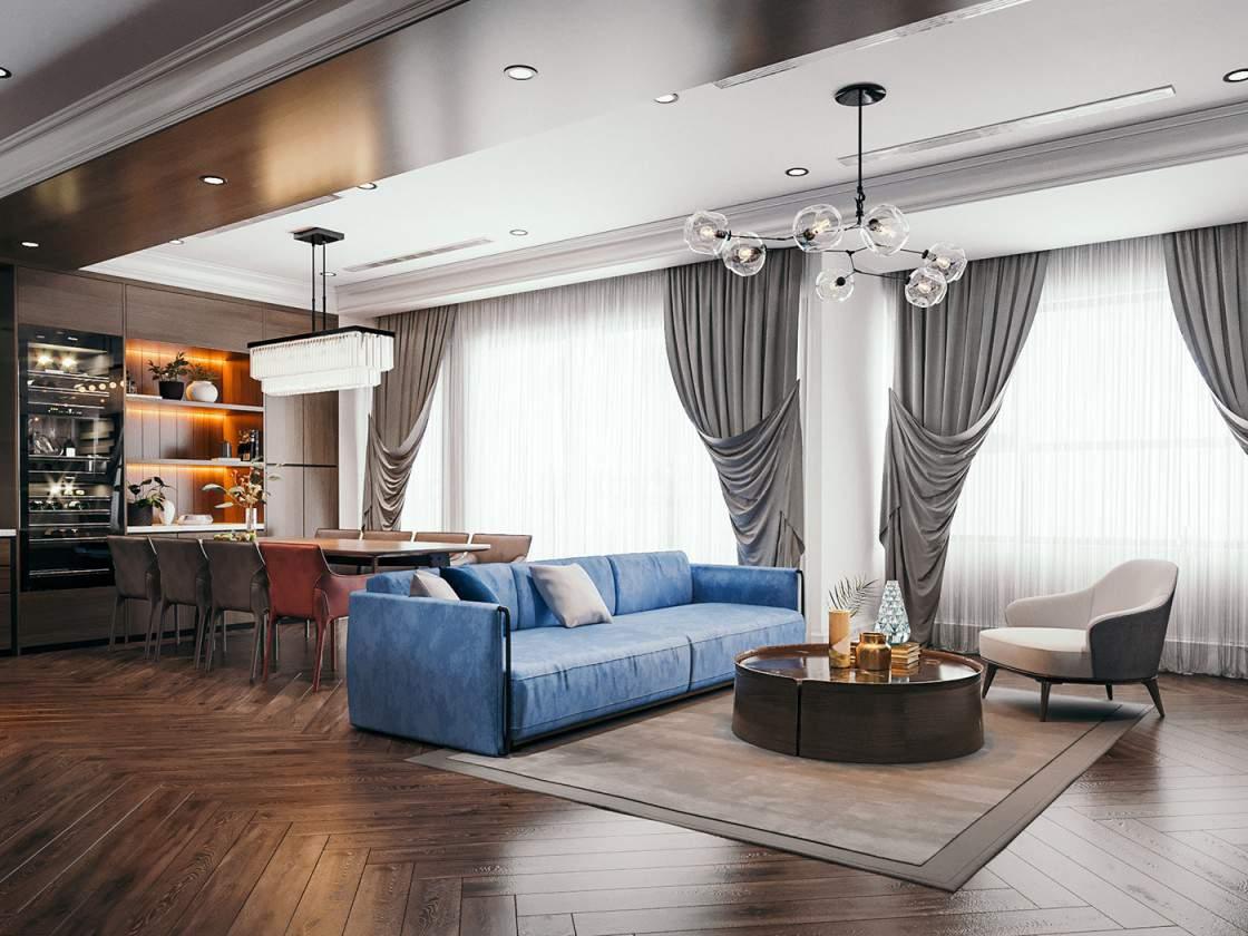 Mẫu thiết kế nội thất phòng khách đẹp và sang trọng