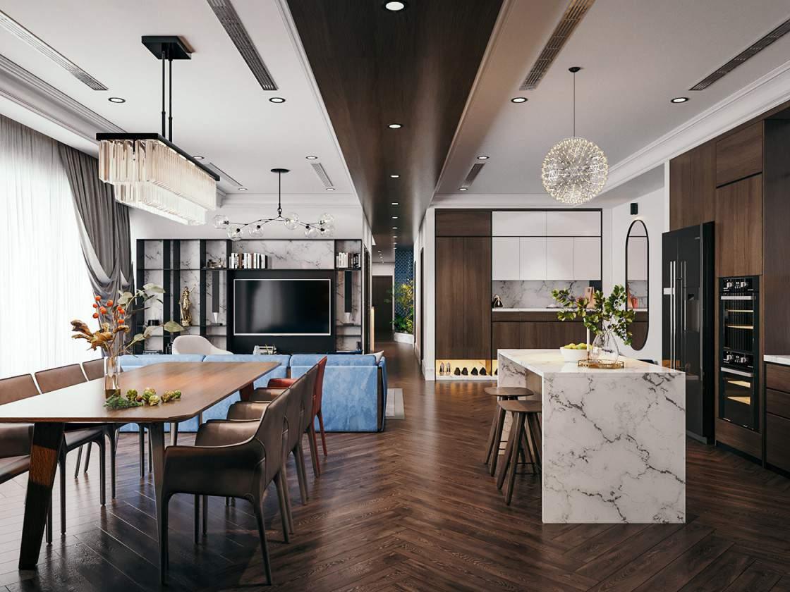 Mẫu thiết kế phòng khách theo phong cách mới lạ độc đáo