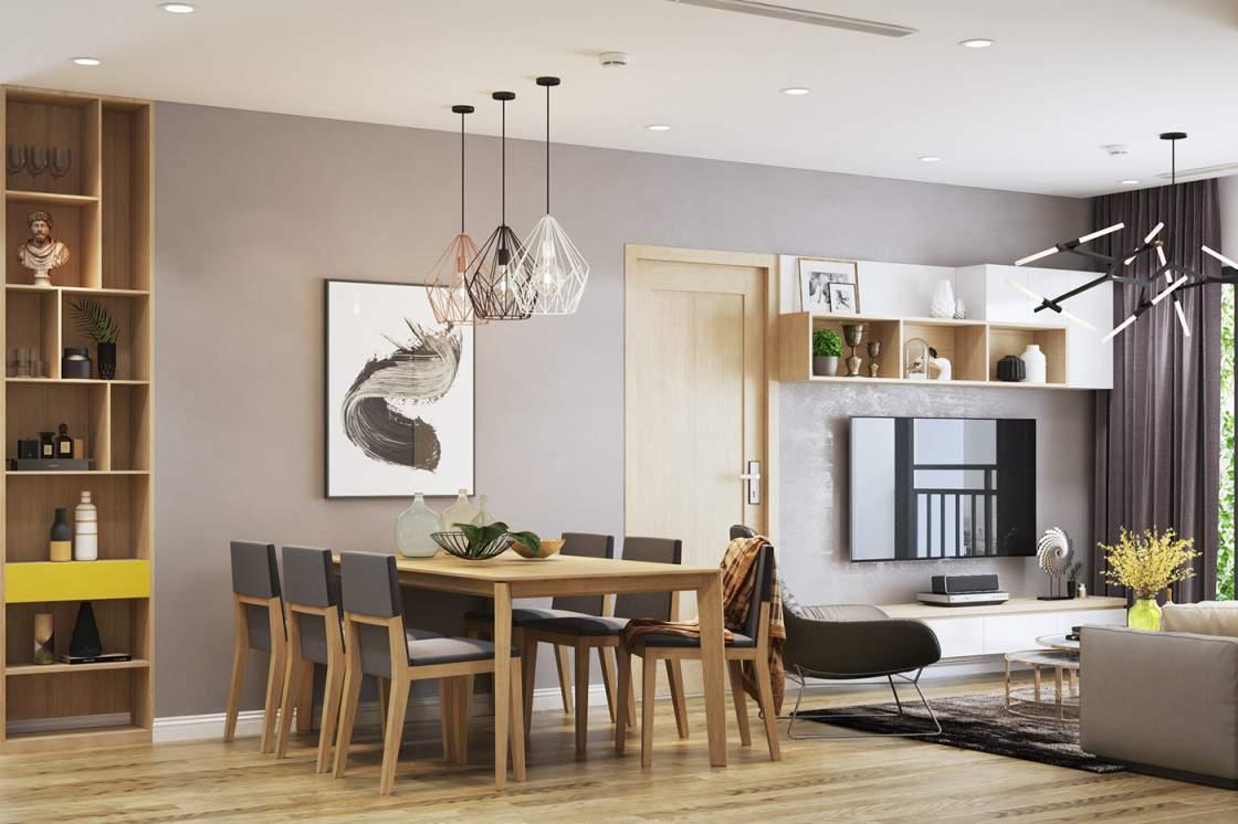 Thiết kế phòng khách liên thông nhà bếp phá bỏ mọi giới hạn không gian