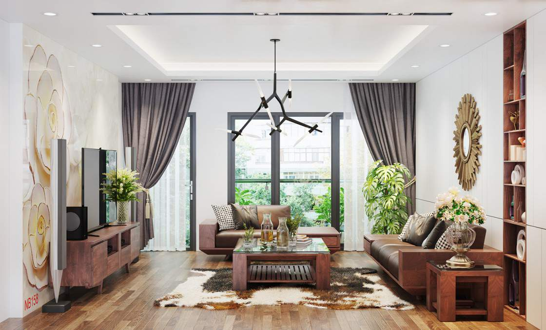 Mẫu thiết kế phòng khách hiện đại cho nhà chung cư