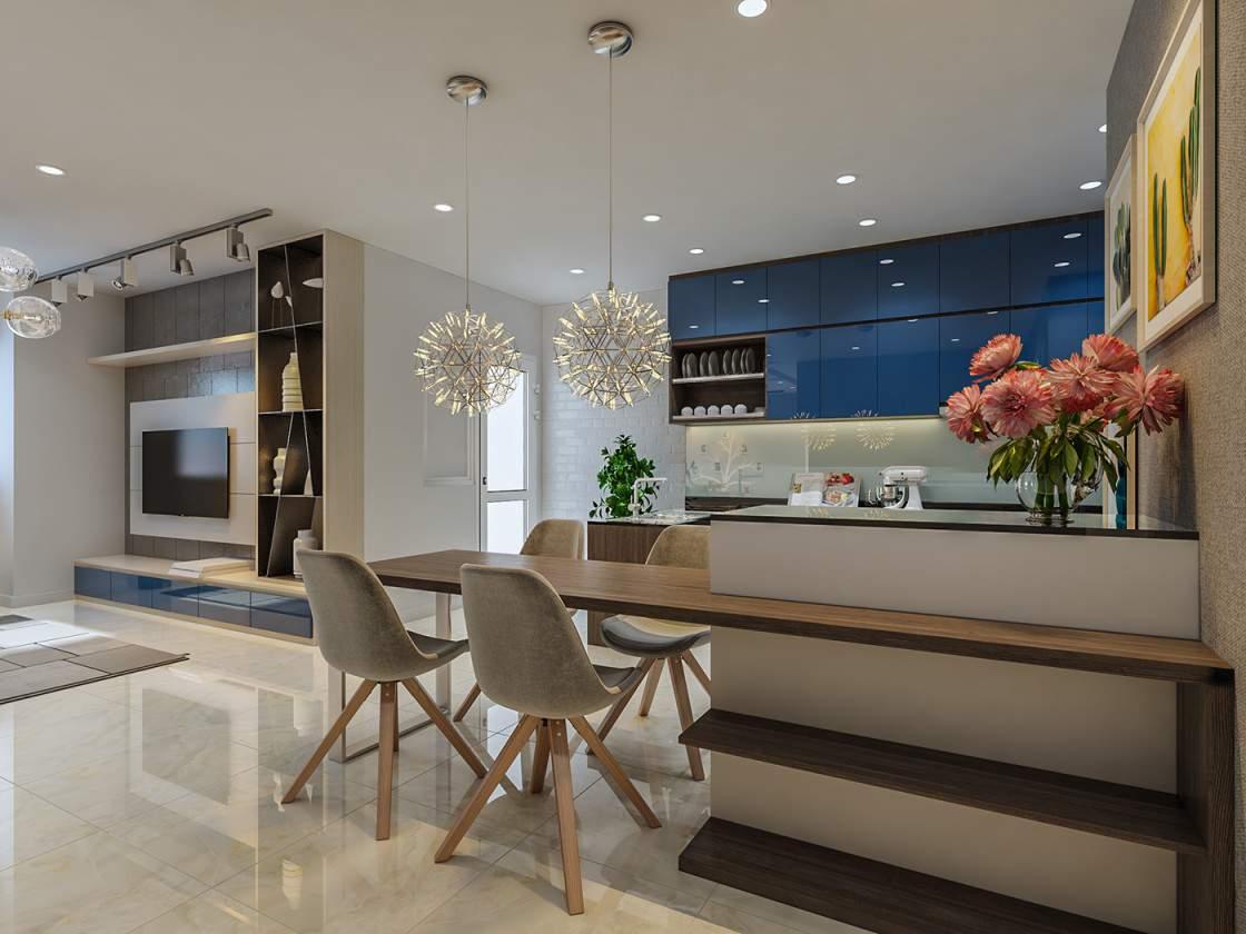 Thiết kế nội thất phòng bếp đẹp cho gia chủ mệnh Thủy