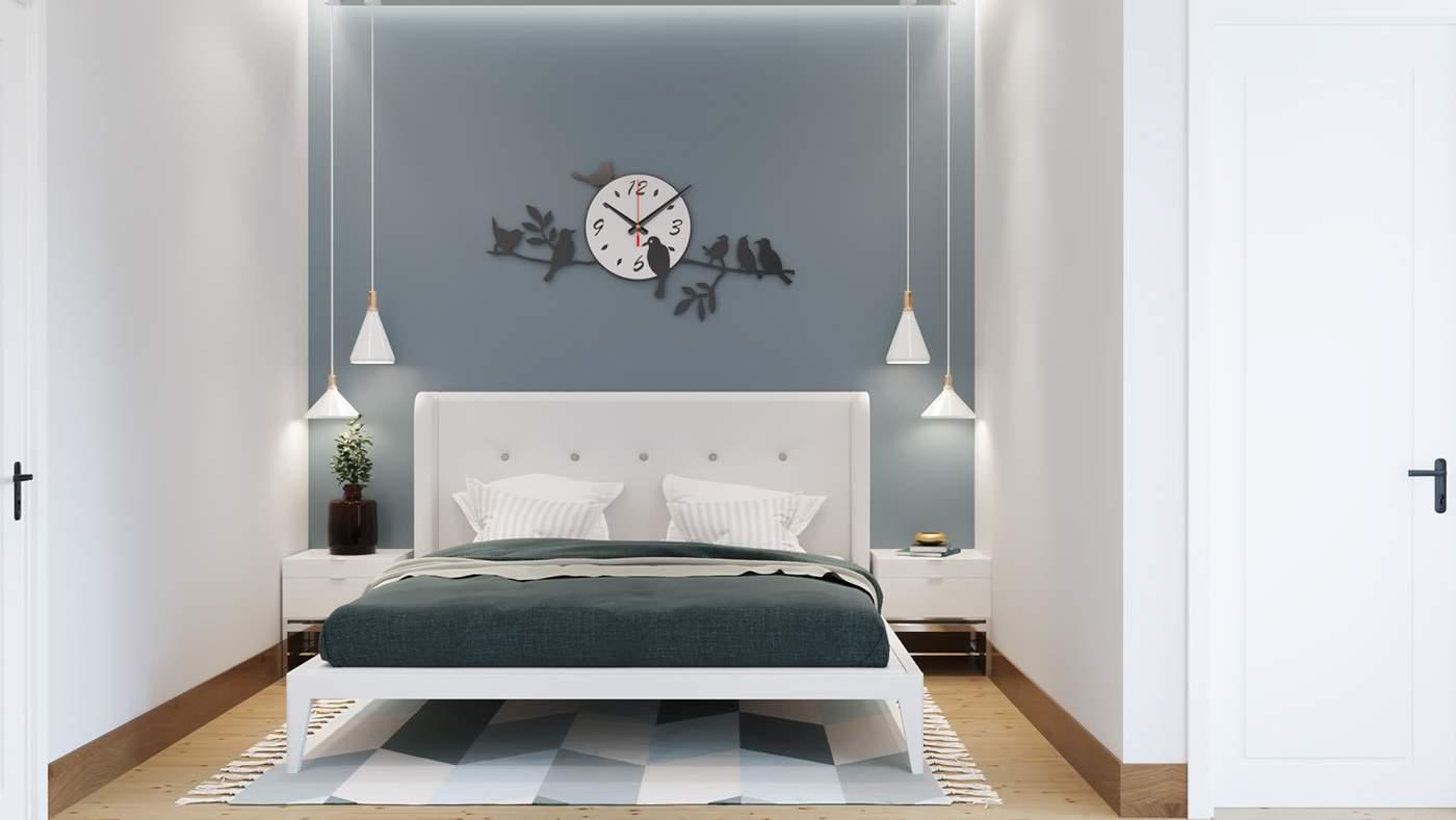 Thiết kế phòng ngủ nhỏ với gam màu hài hòa