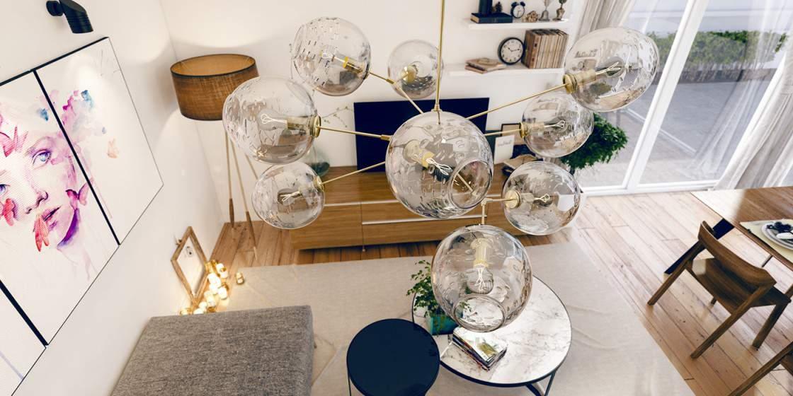 Thiết kế phòng khách đẹp với không gian mới lạ độc đáo