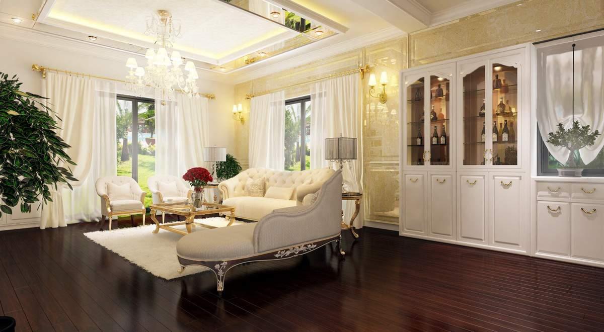 thiết kế nội thất biệt thự đẹp cho phòng khách