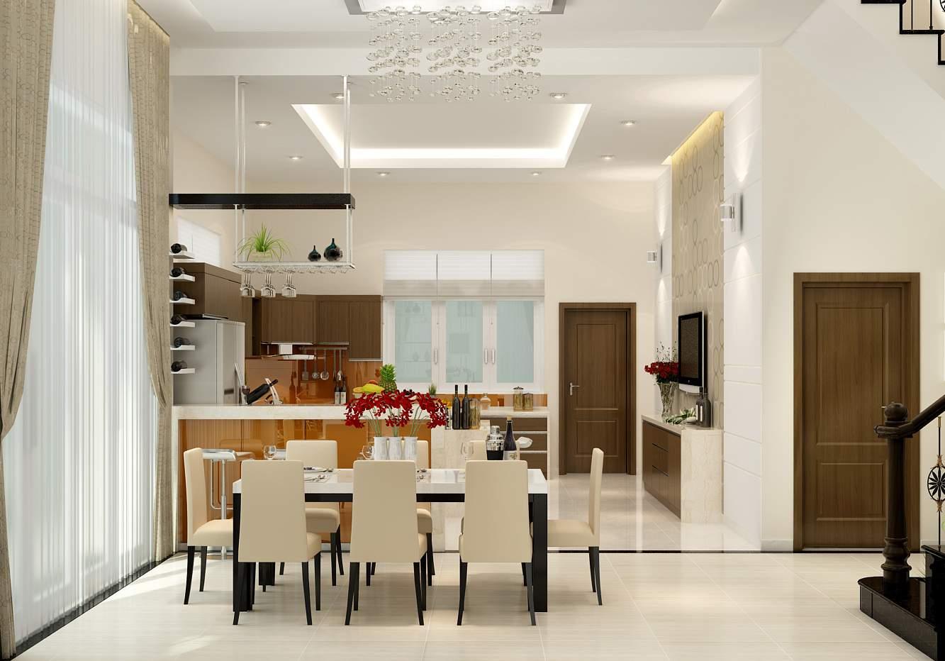 thiết kế nội thất biệt thự hiện đại cuốn hút