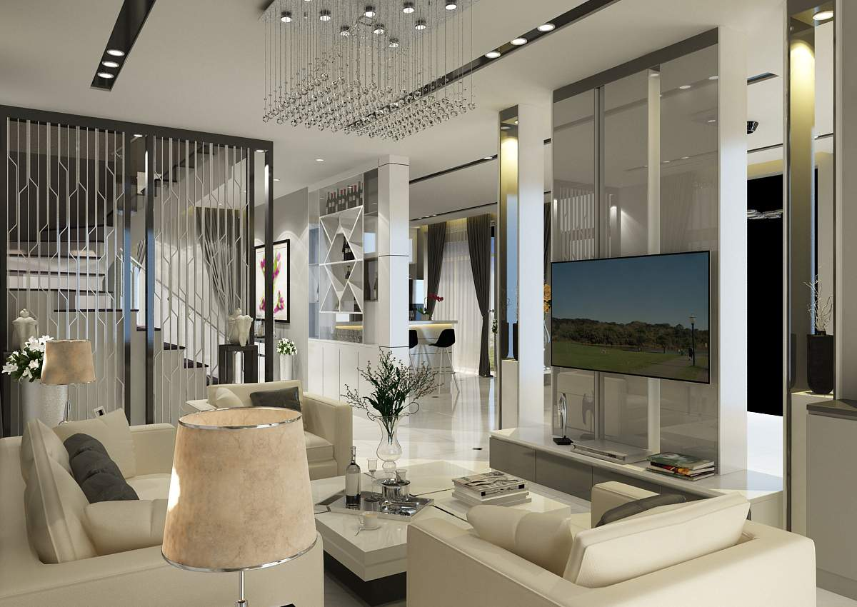 thiết kế nội thất biệt thự hiện đại đẹp quyến rũ