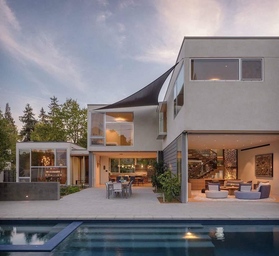 Thiết kế nội thất biệt thự hiện đại có bể bơi đẹp