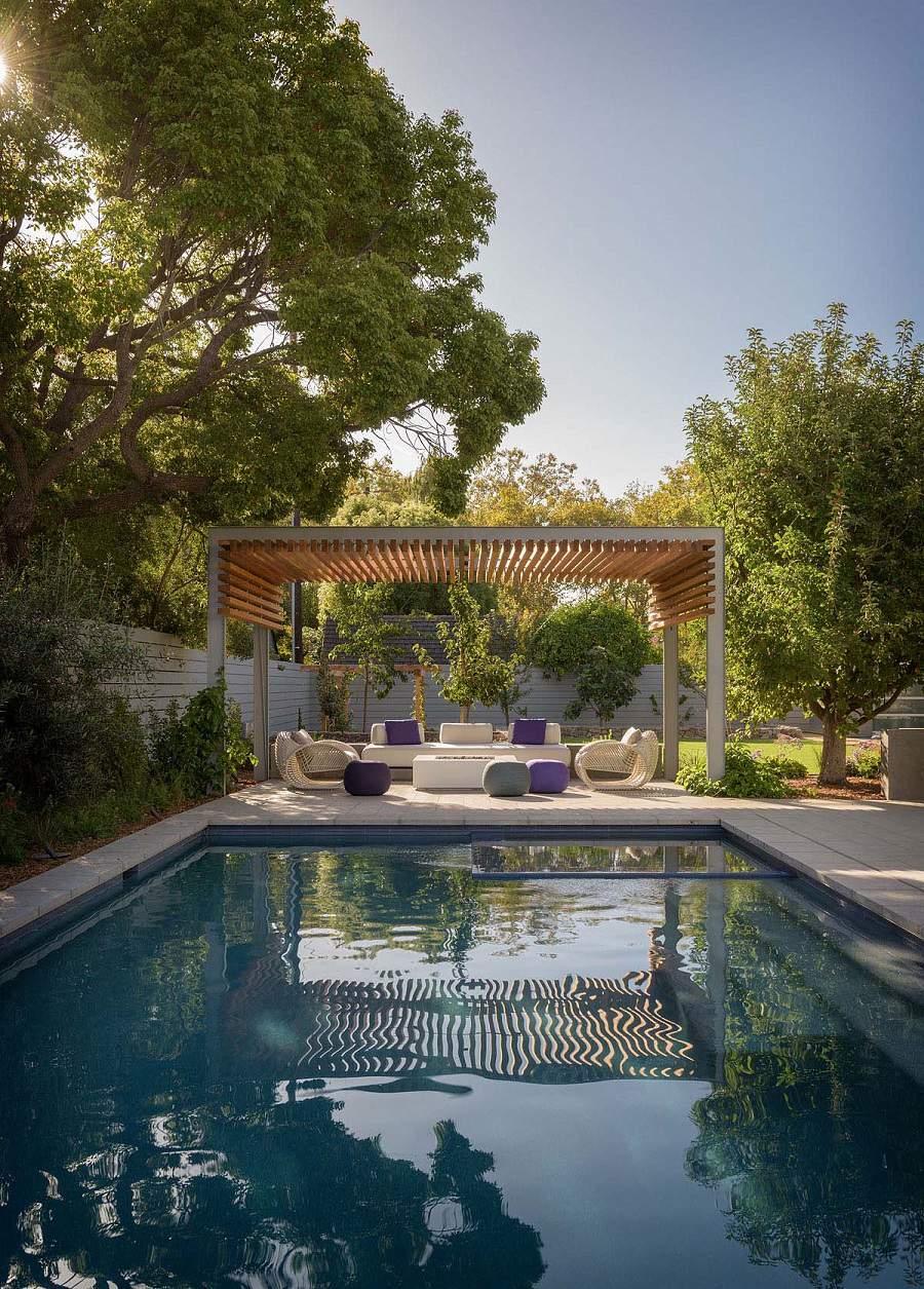 Thiết kế nội thất biệt thự hiện đại có bể bơi sang trọng
