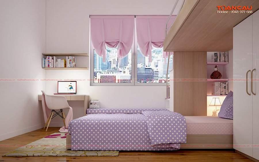 mẫu thiết kế nội thất chung cư nhỏ hiện đại cho bé