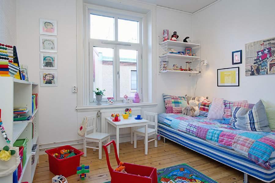 thiết kế nội thất chung cư hiện đại cho phòng của bé