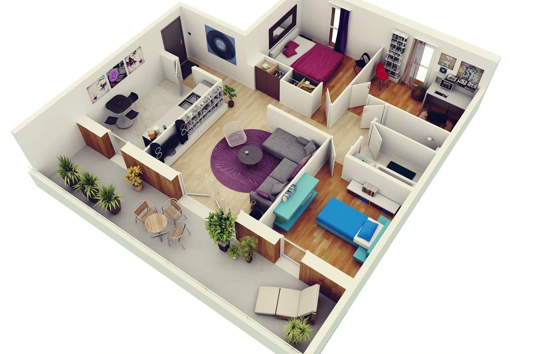 Thiết kế nội thất chung cư 2 phòng ngủ, mẫu thiết kế nội thất chung cư hiện đại