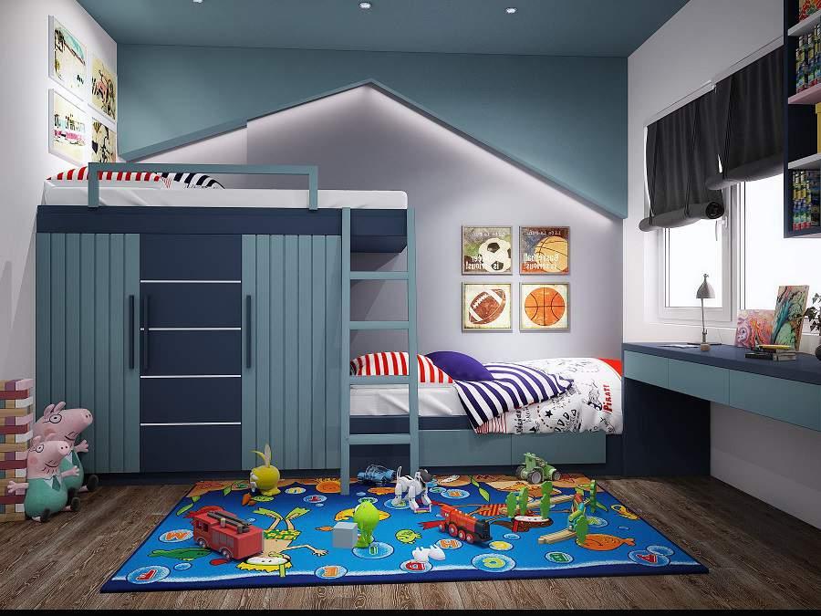 Thiết kế nội thất phòng ngủ đẹp cho trẻ em