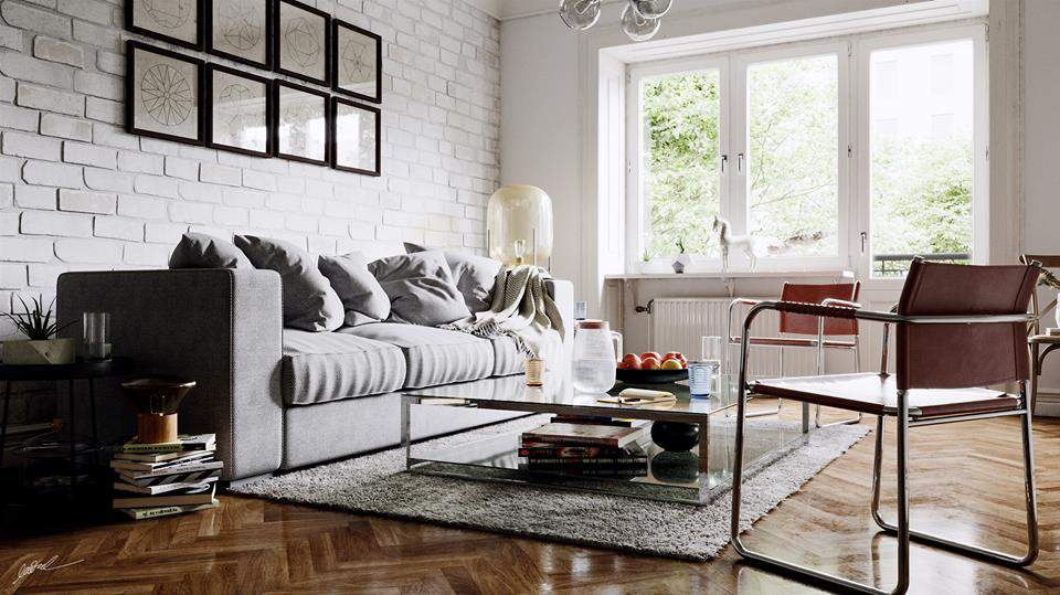 thiết kế nội thất phòng khách chung cư, thiết kế nội thất chung cư 3 phòng ngủ đẹp