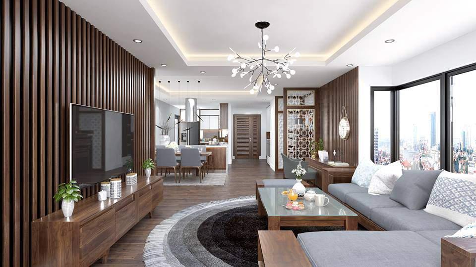 thiết kế nội thất chung cư 3 phòng ngủ đẹp tinh tế