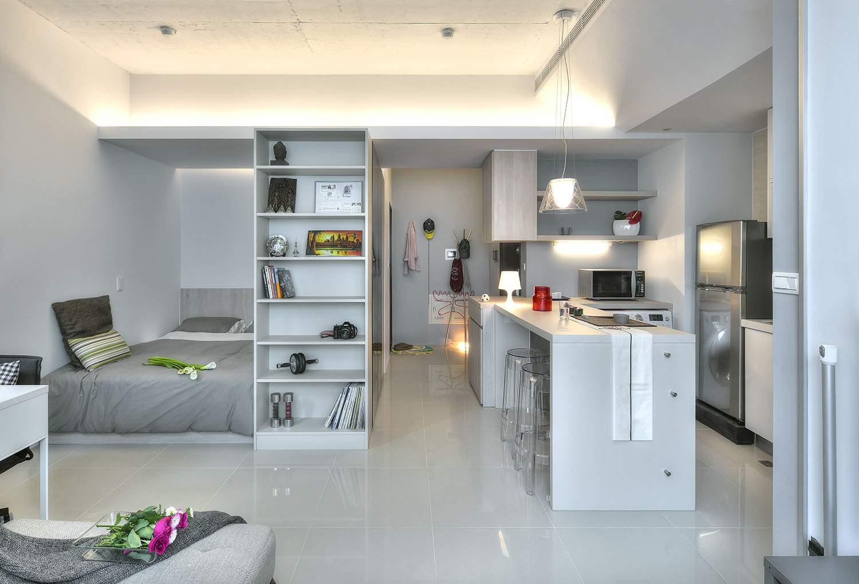 thiết kế nội thất chung cư 45m2 cho phòng bếp ĐẸP