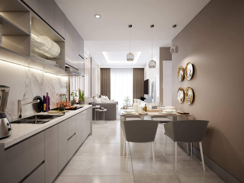 Mẫu tủ bếp đẹp và tiện nghi dành cho người mệnh Kim