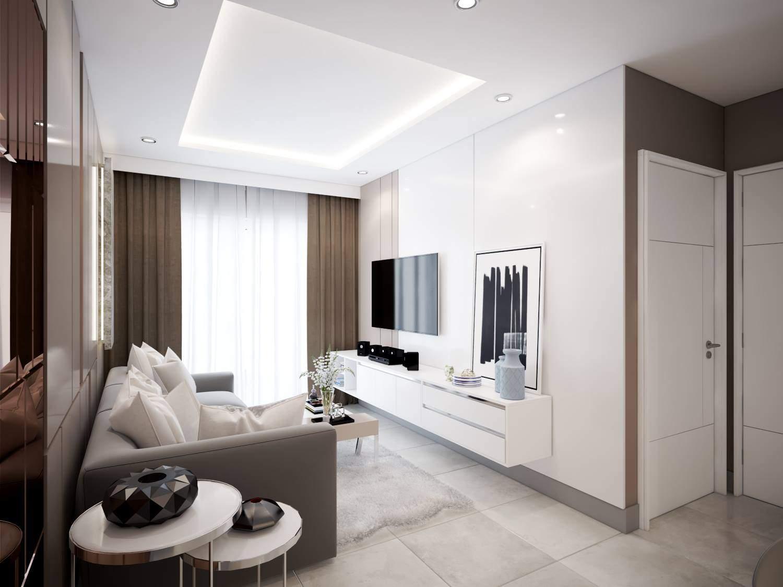 Mẫu thiết kế nội thất phòng khách đẹp cho gia chủ mệnh Kim