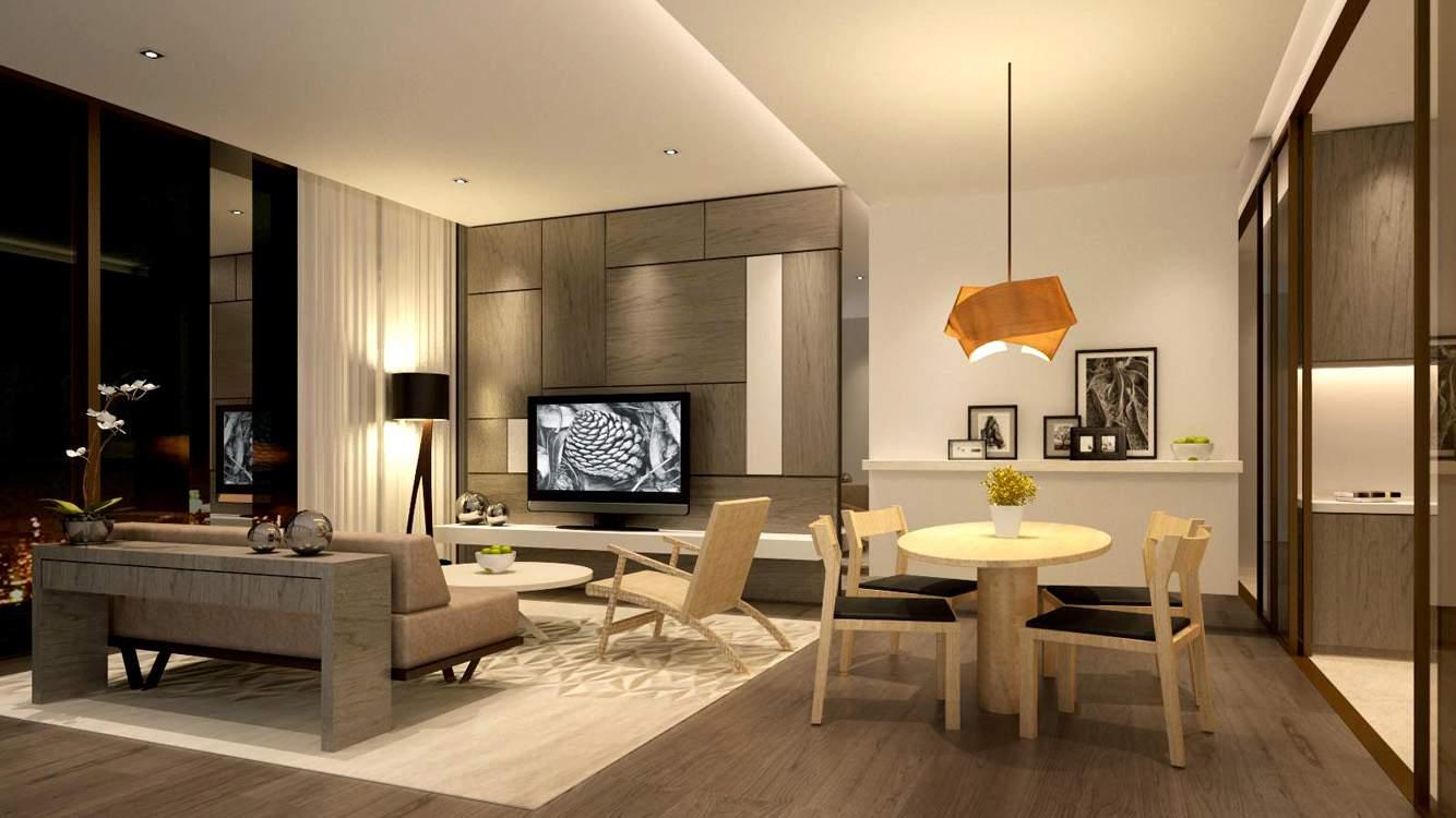 thiết kế nội thất chung cư 45m2 phòng bếp và phòng ăn