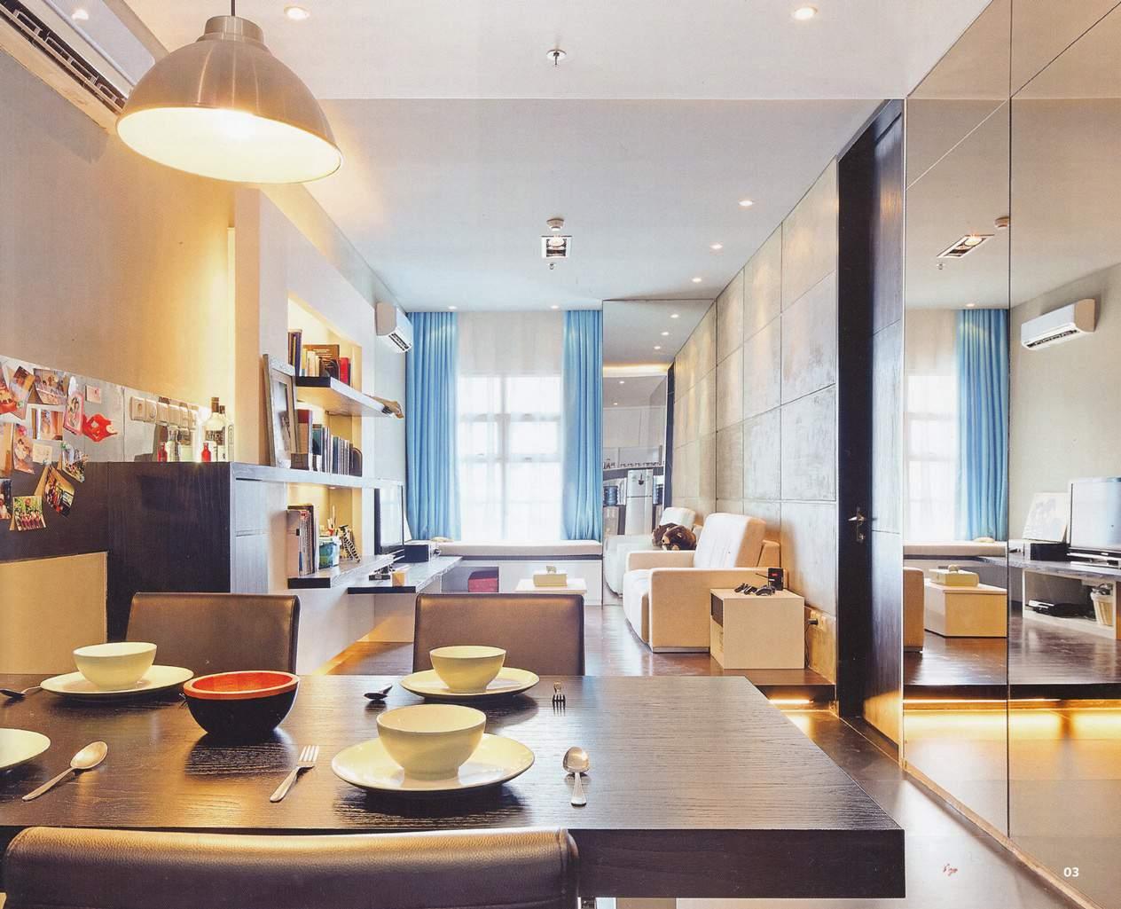 thiết kế nội thất chung cư 45m2, thiết kế căn hộ chung cư 45m2 hiện đại