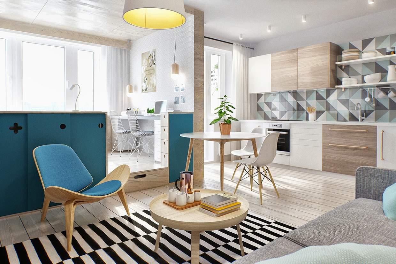 thiết kế nội thất chung cư 45m2 sang trọng