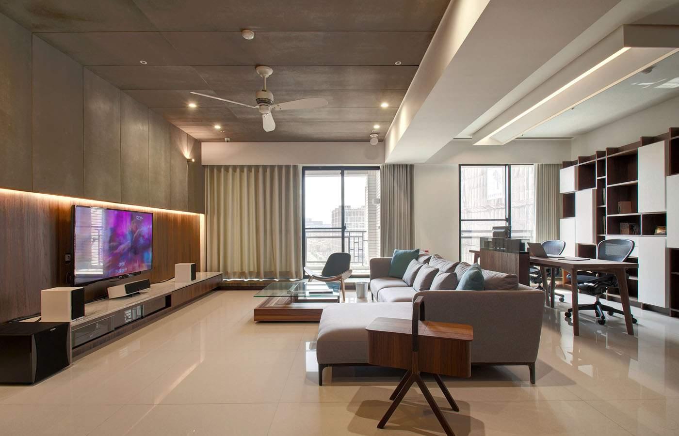 thiết kế nội thất chung cư 45m2 phòng khách