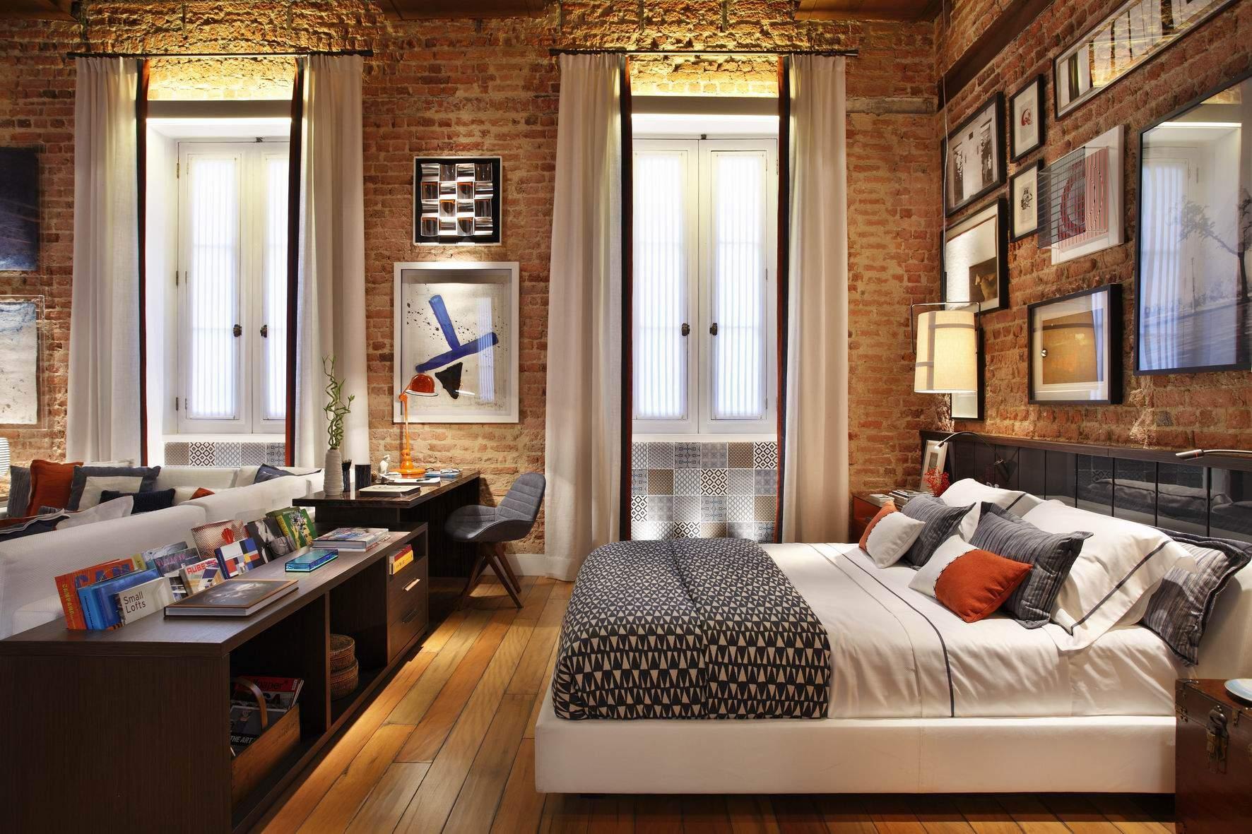 thiết kế chung cư 45m2, thiết kế nội thất chung cư 45m2 cho phòng ngủ ấm áp