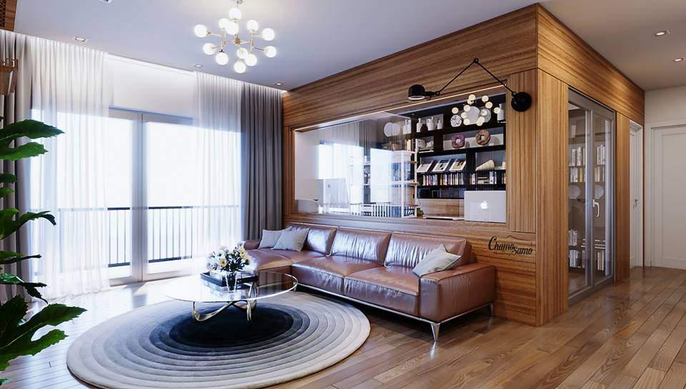 thiết kế nội thất chung cư 70m2 mới mẻ