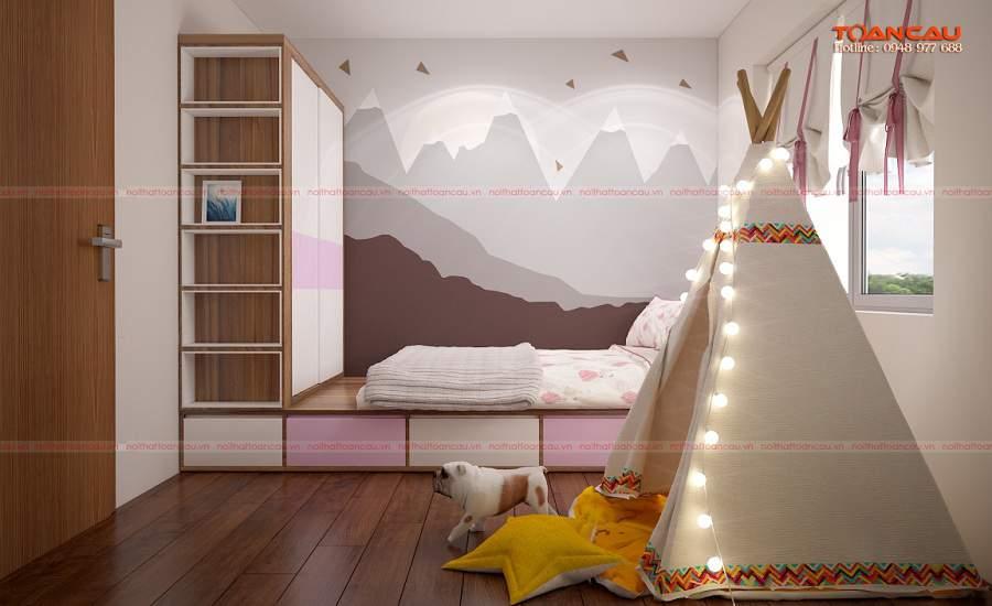 nhà đẹp 40m2 tinh tế cho căn phòng ngủ của bé