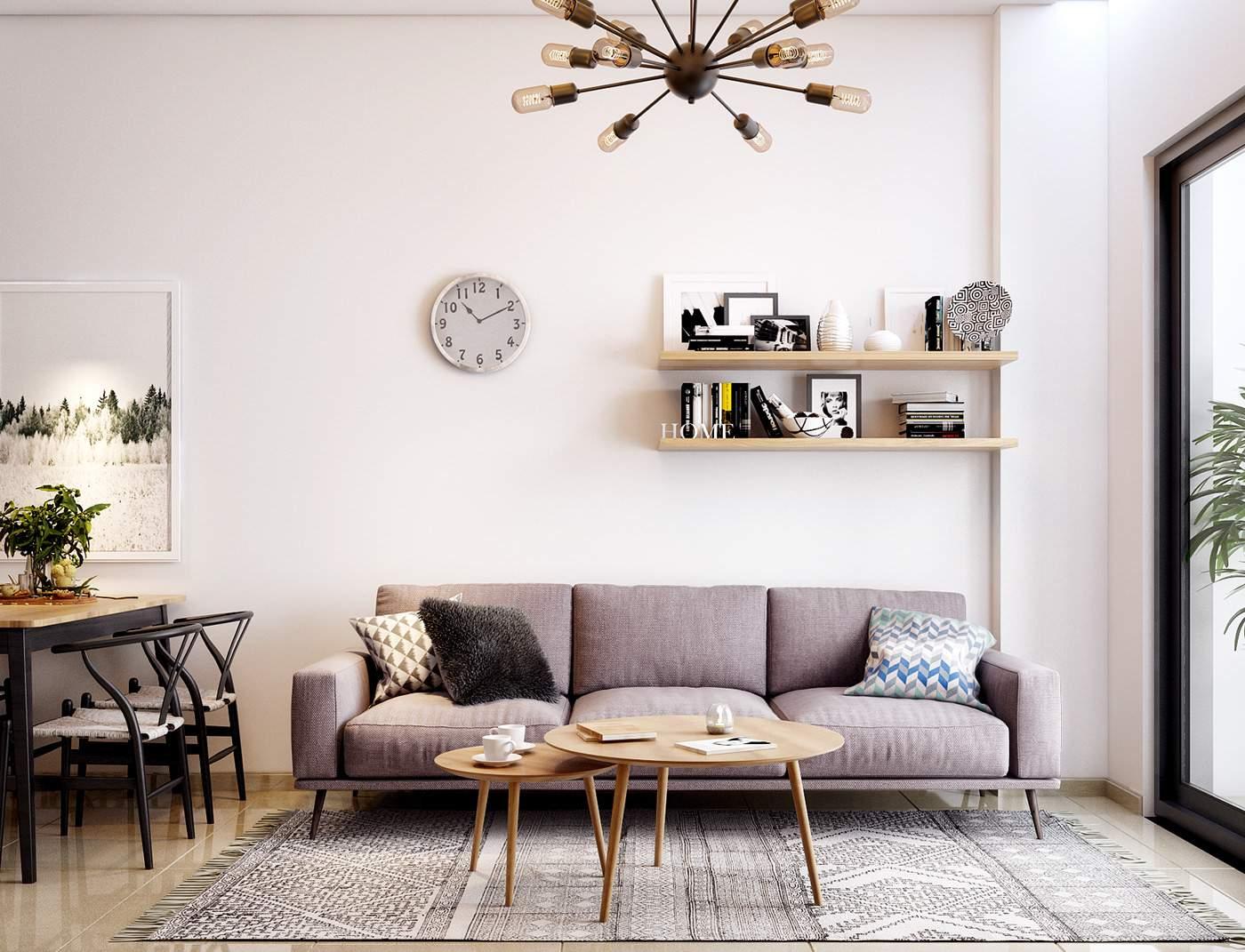 Trang trí nội thất phòng khách nhỏ đẹp