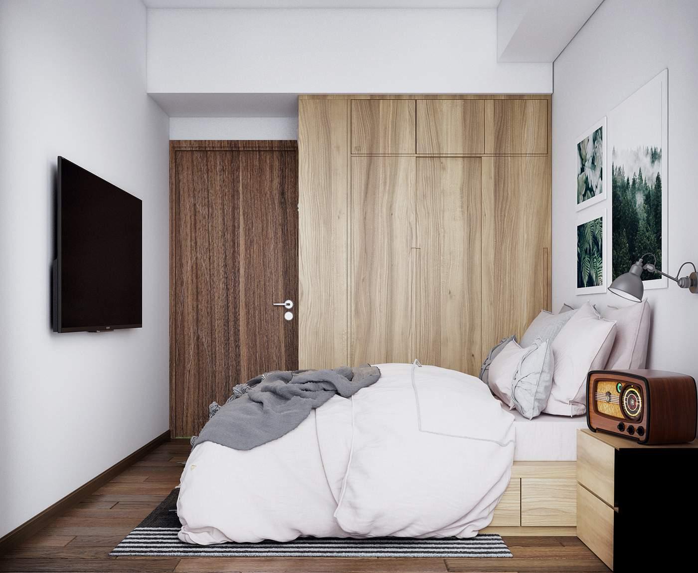 Thiết kế nội thất phòng ngủ nhỏ đẹp