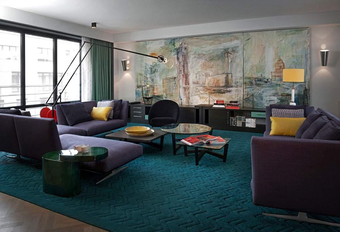 Phòng khách màu trầm đẹp tinh tế