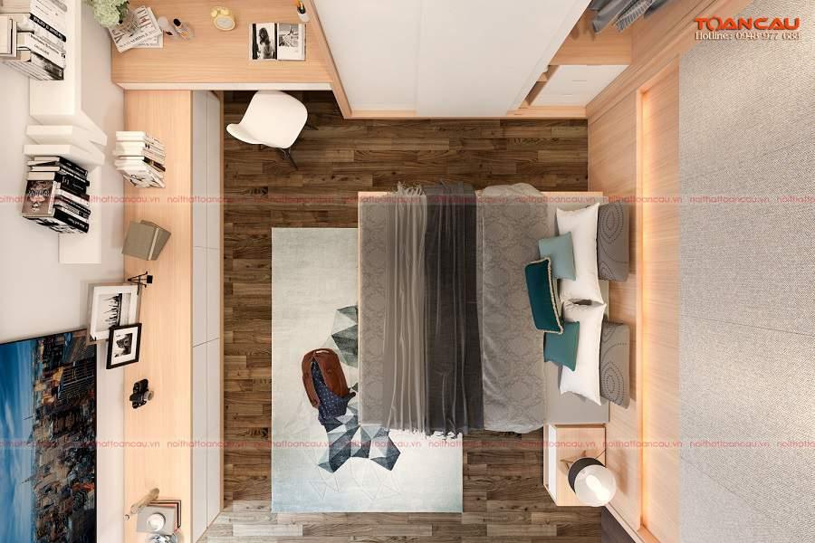 cách bố trí phòng ngủ diện tích nhỏ tiện ích
