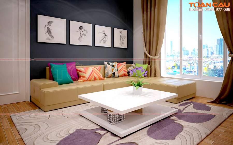 phòng khách đơn giản mà đẹp tiện nghi