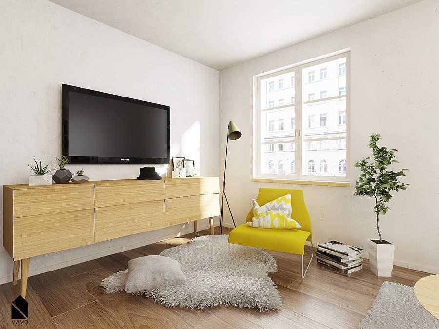 Màu sắc trang trí nhẹ nhàng cho không gian căn phòng khách