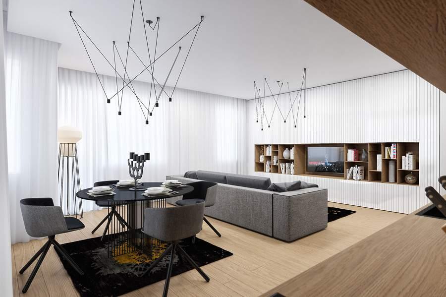 Thiết kế nội thất gỗ cho căn hộ chung cư đẹp và đẳng cấp hơn