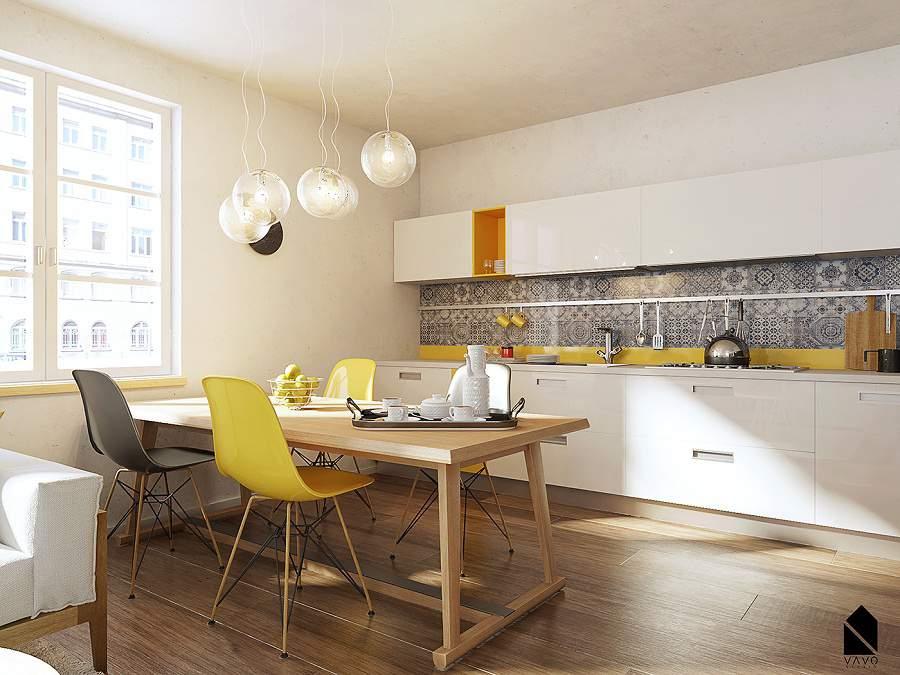 Thiết kế nội thất đơn giản đảm bảo tiện nghi cho gian bếp