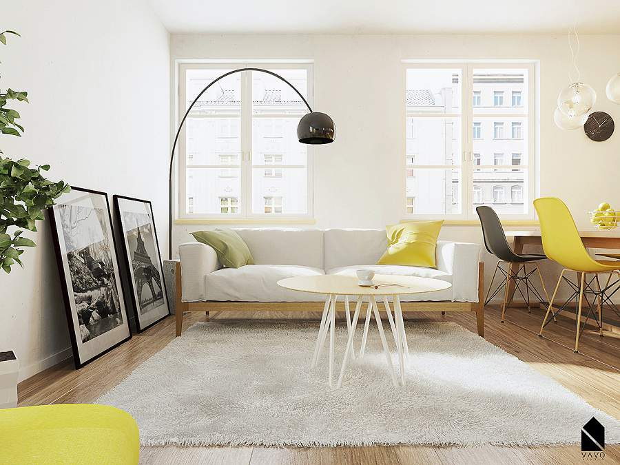 Thiết kế nội thất đơn giản giúp tiết kiệm diện tích và chi phí