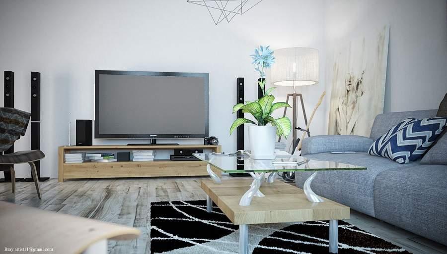 Thiết kế nội thất gỗ công nghiệp cho căn hộ chung cư