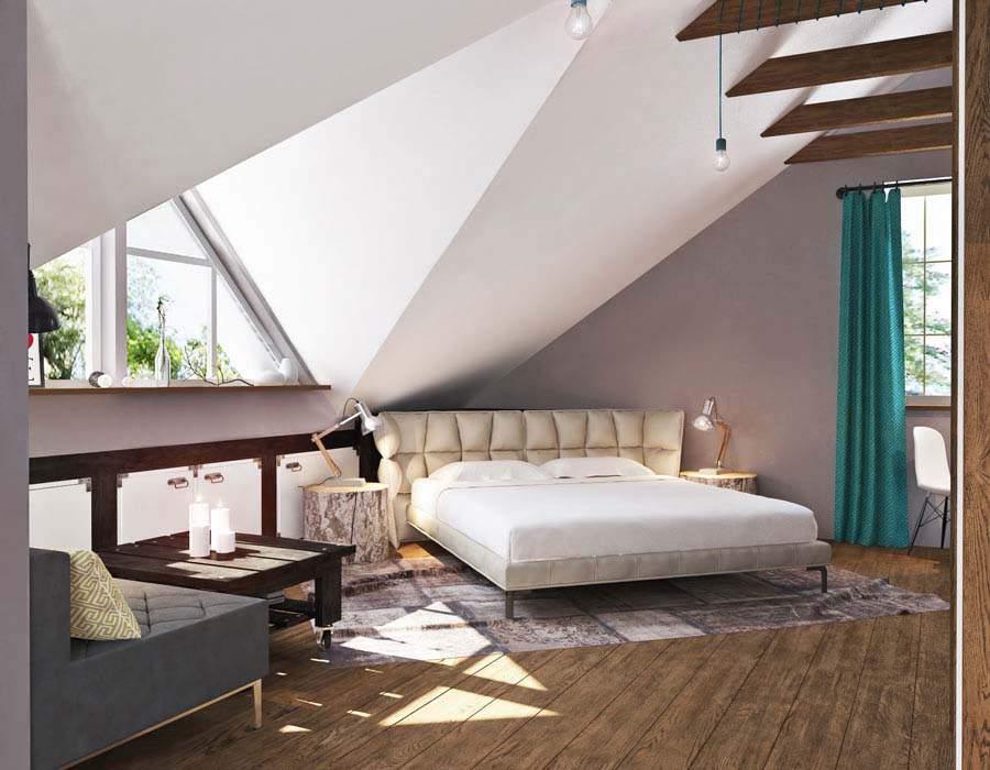 thiết kế nội thất nhà phố nhỏ cho phòng ngủ cha mẹ