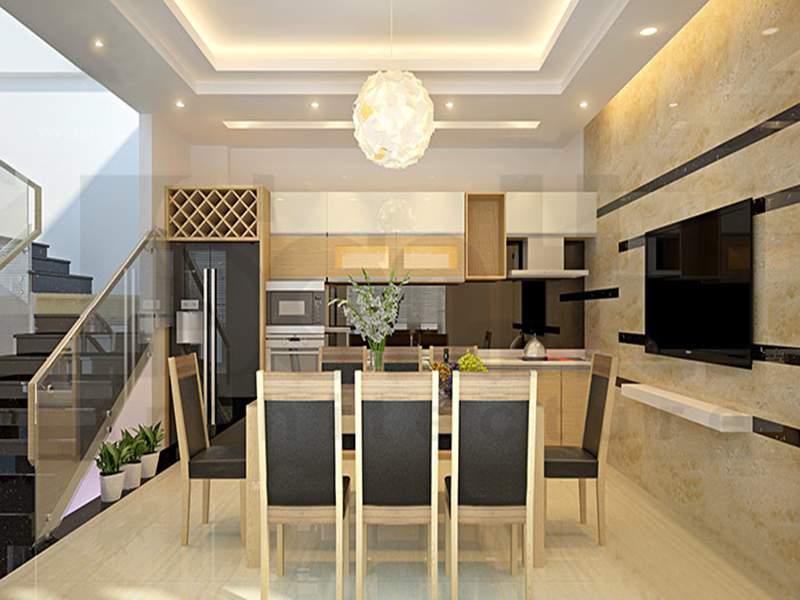 Thiết kế nội thất phòng bếp nhà ống