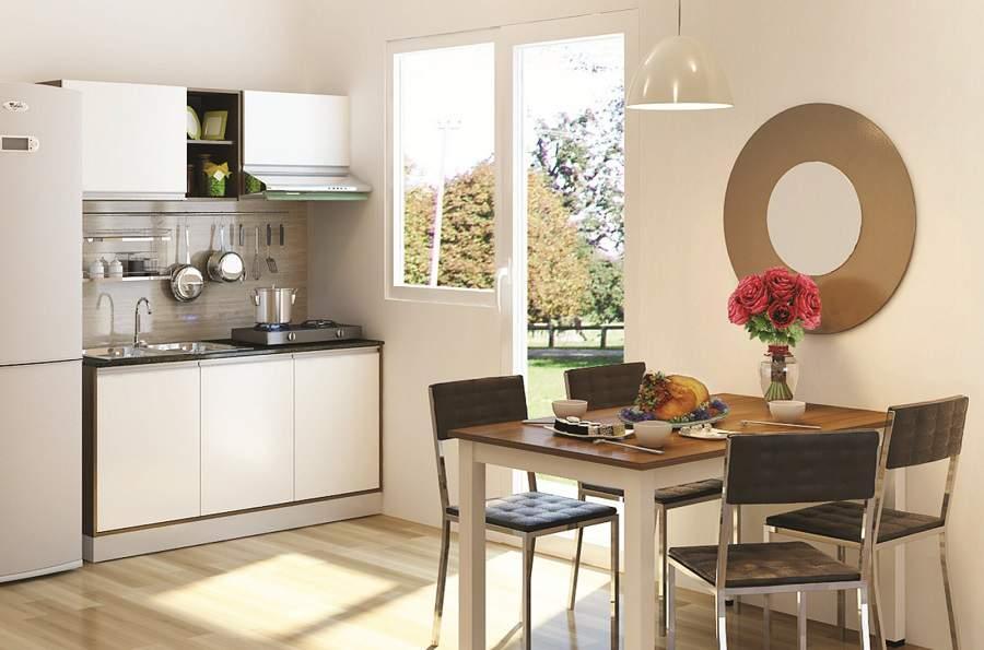 thiết kế phòng bếp nhà ống đẹp tiện nghi