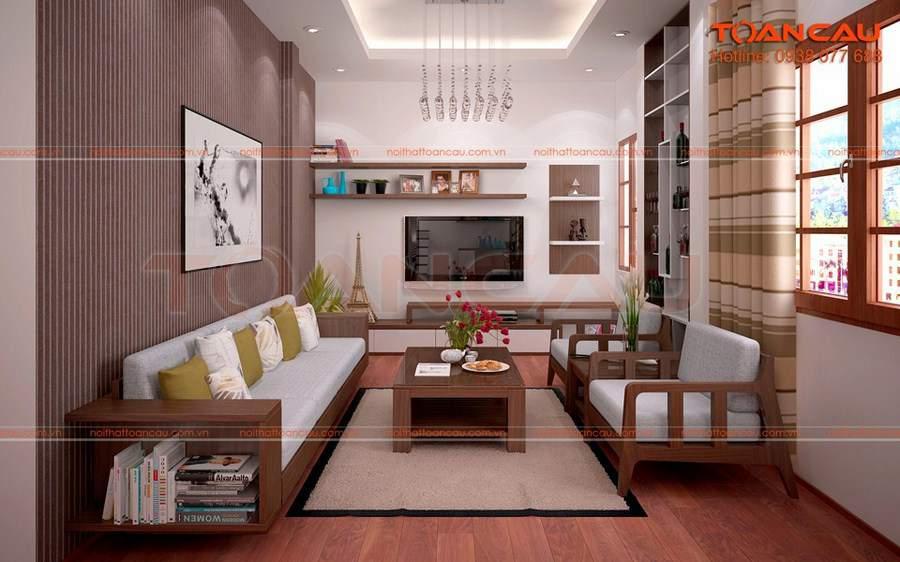 Thiết kế phòng khách độc đáo hợp với phong cách Á đông
