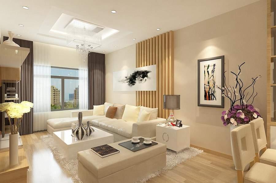 Thiết kế nội thất phòng khách cho người mệnh kim sang trọng và tiện ích